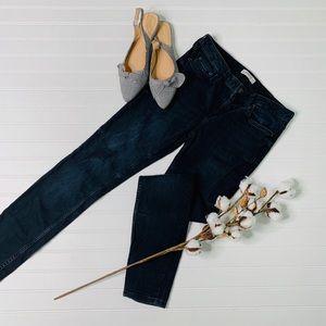 Zara Woman Premium Denim Skinny Distressed Jeans